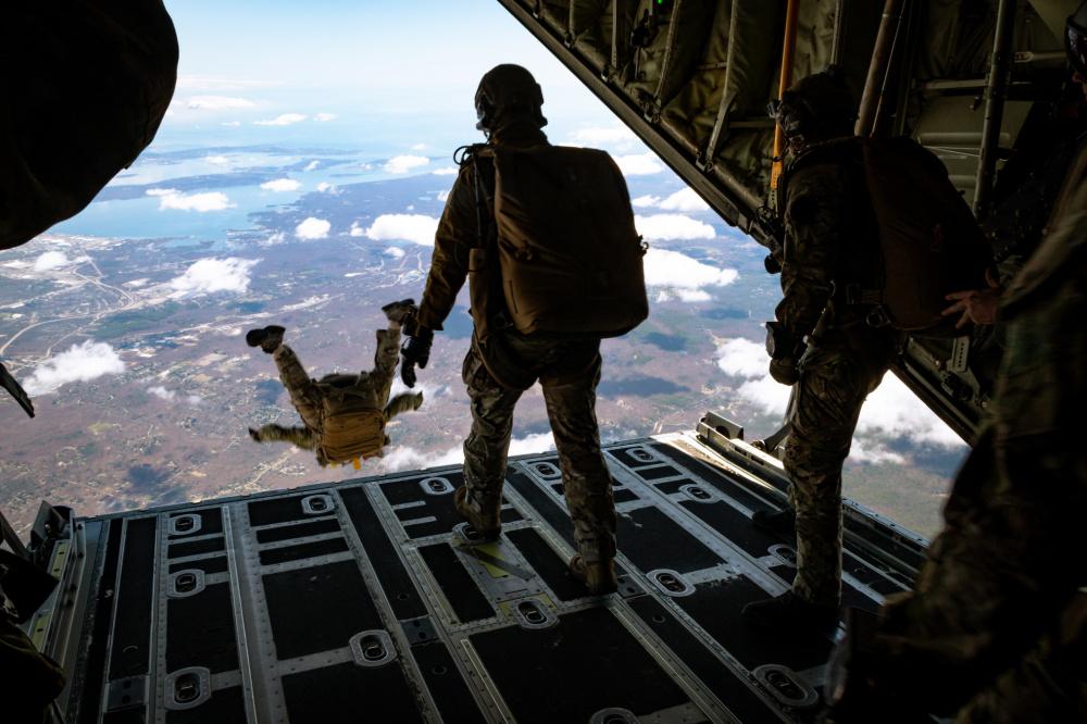 Special operators perform a HALO jump