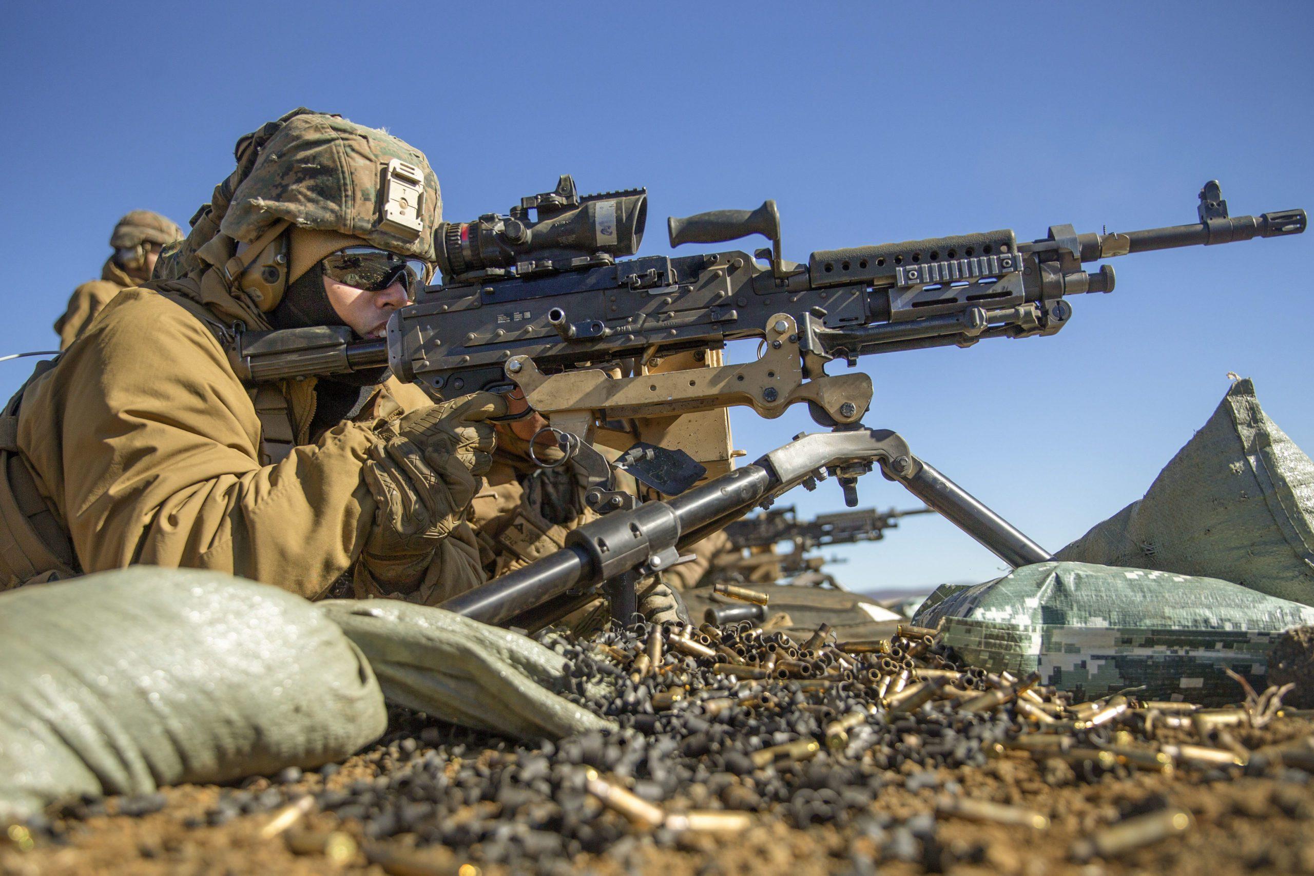 FN M240B Machine Gun Marines