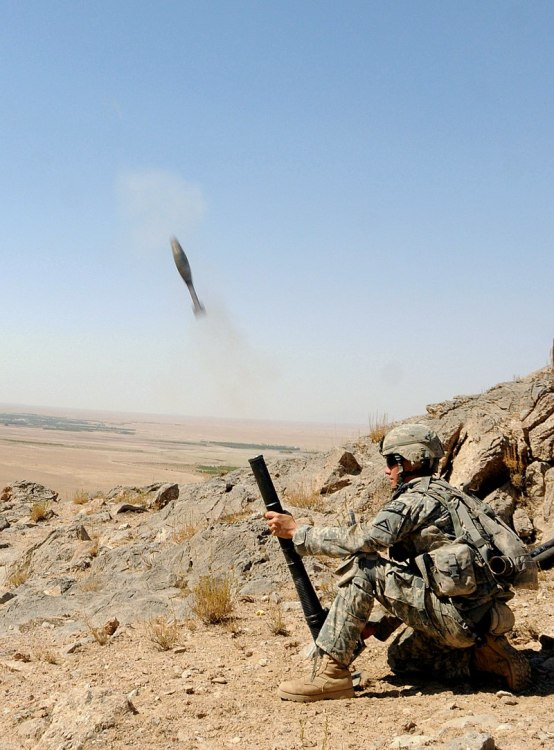60mm mortar Afghanistan