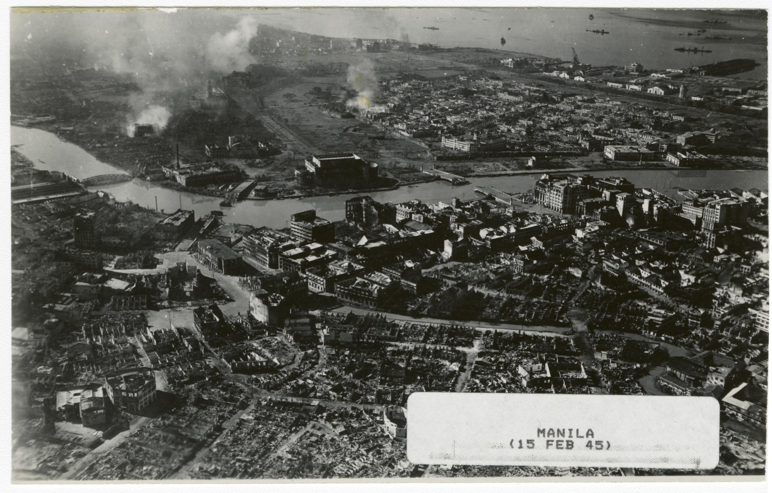 Manila destroyed in WWII due to urban warfare
