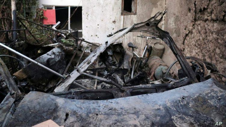 ISIS-K vehicle destroyed Kabul