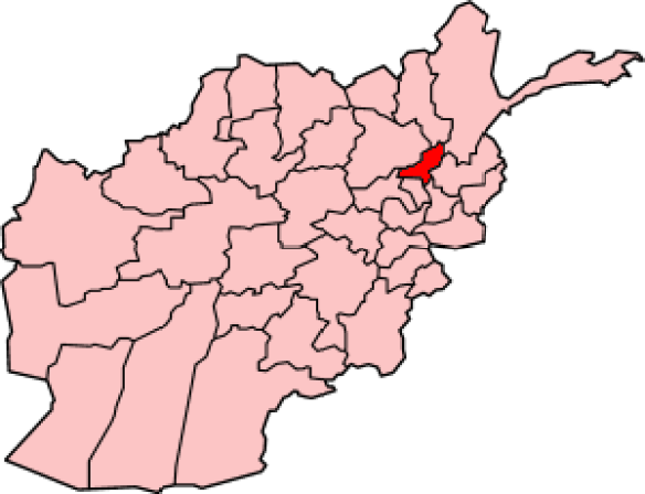 Panjshir Valley Afghanistan map