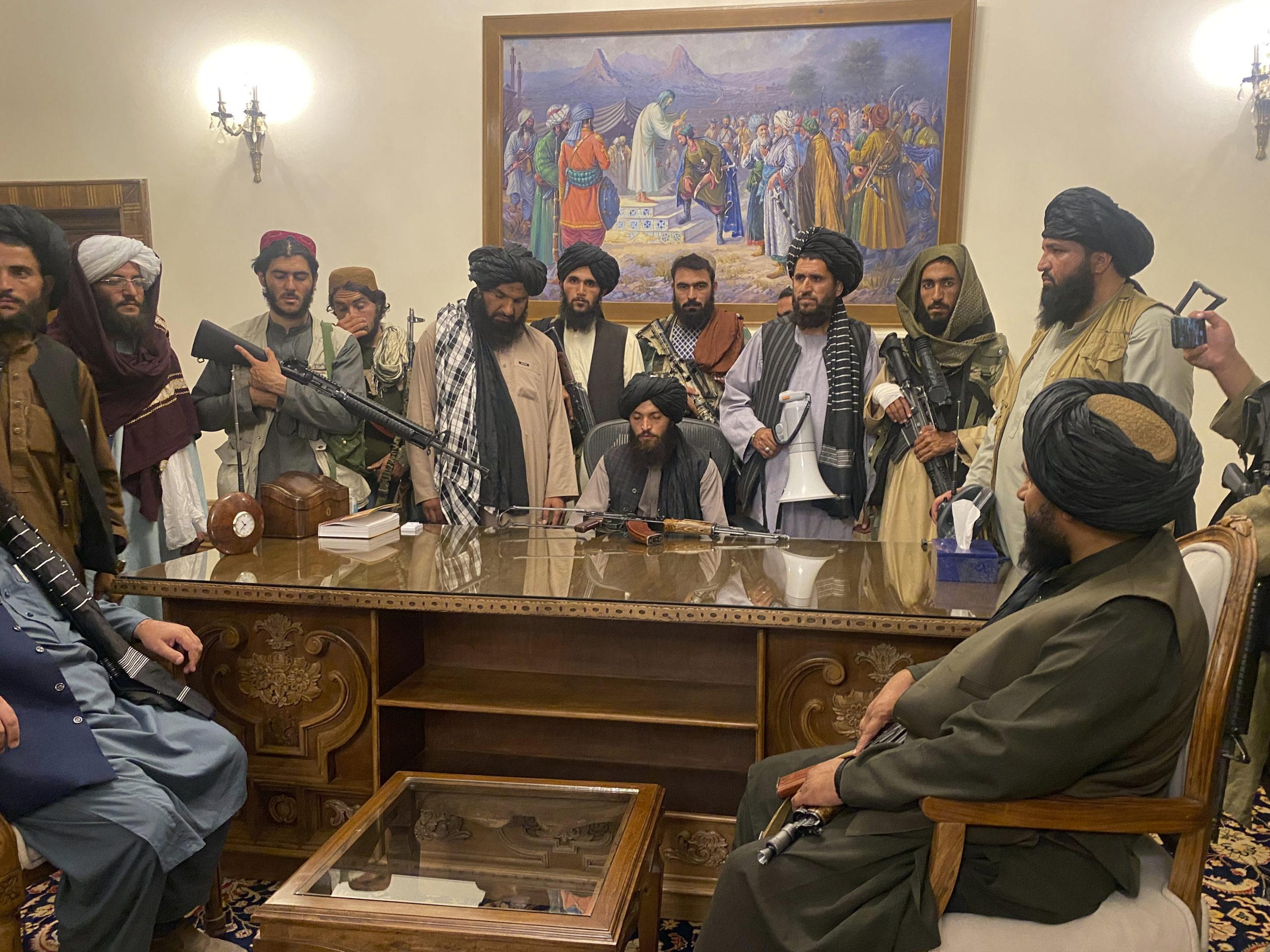 Taliban Afghan presidential palace