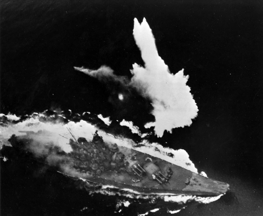 Yamato bombed