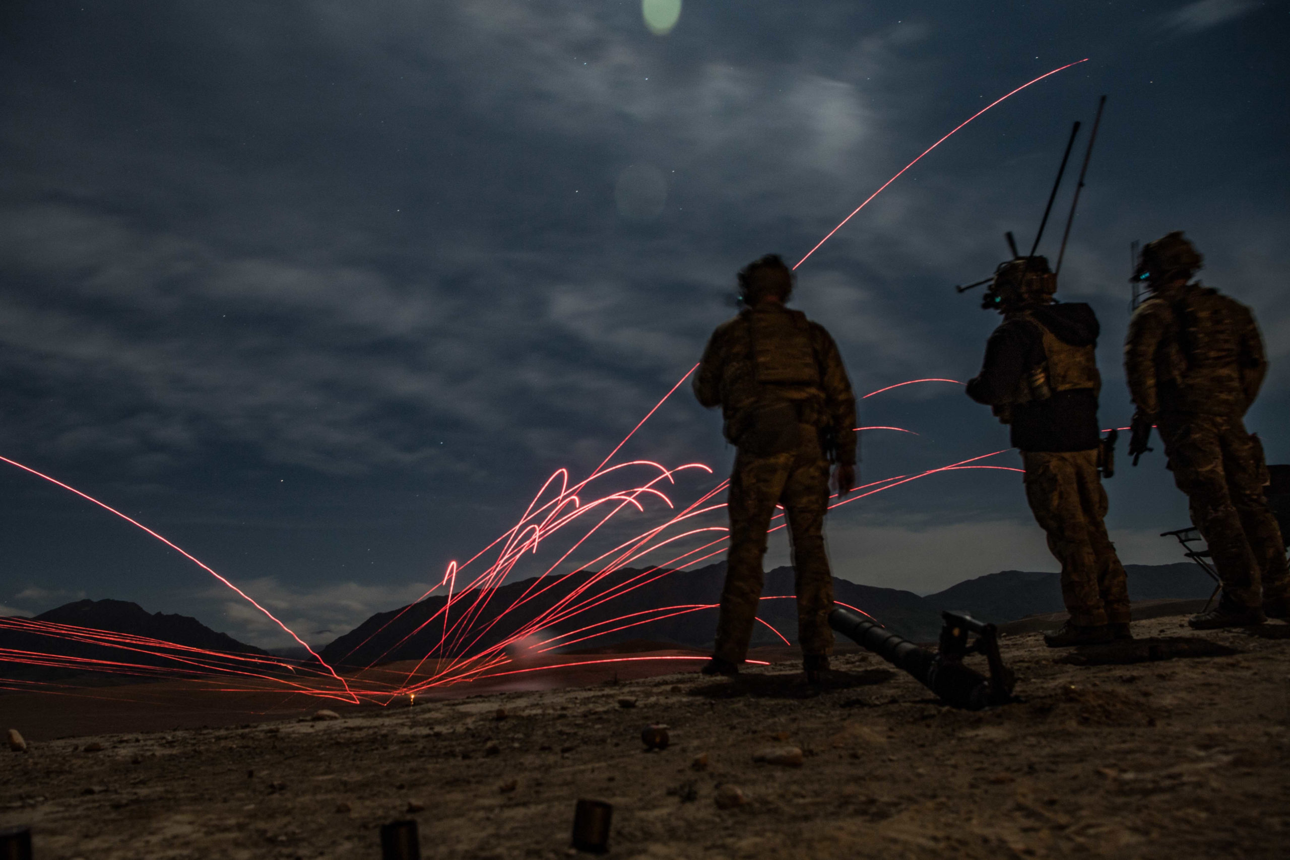 Air Force joint terminal attack controller call-for-fire training tracer rounds