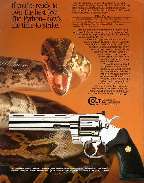 Colt Python advertisement