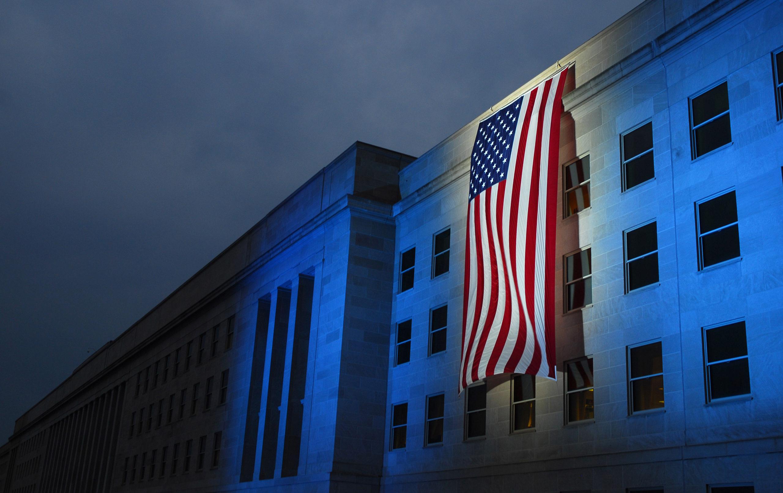 Memorial Flag Pentagon Flight 77