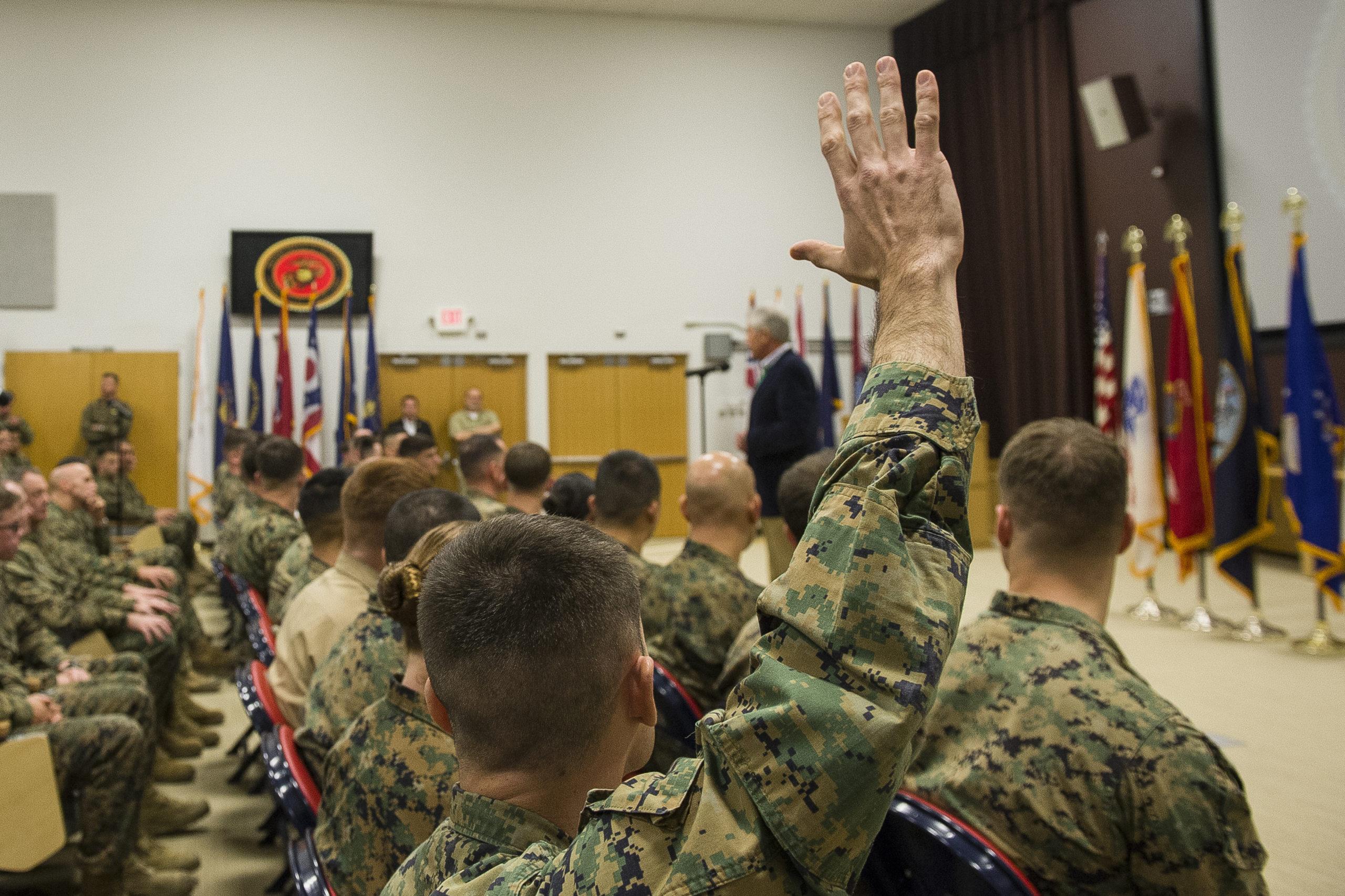 Marines Chuck Hagel 2nd Marine Expeditionary Force