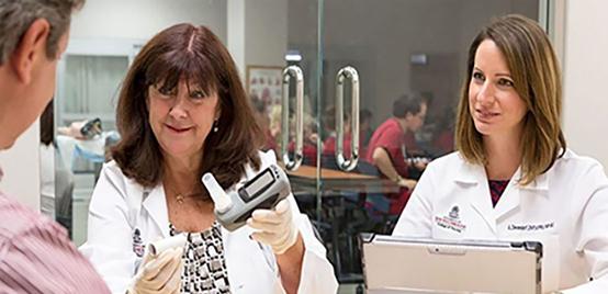 Nurse researchers Karen K. McDonnell and Amy Dievendorf