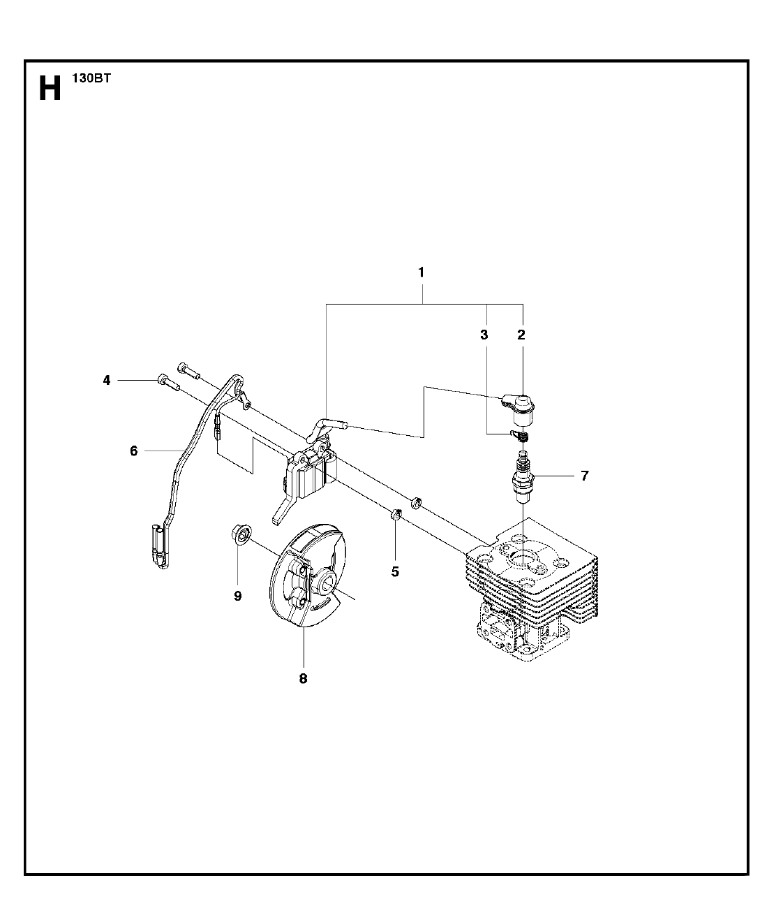 Buy Husqvarna 130bt Type 1 Replacement Tool Parts