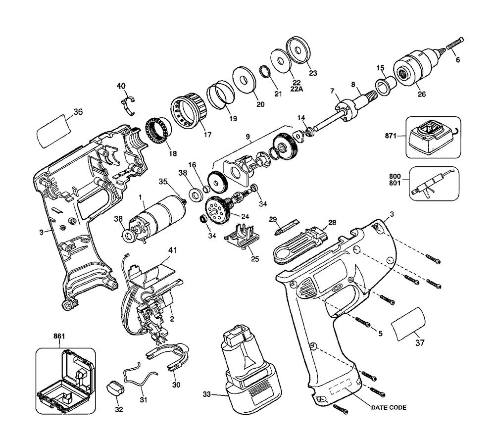 Electric drill switch wiring diagram electric get free d945k 04 t1 dewalt pb electric drill switch