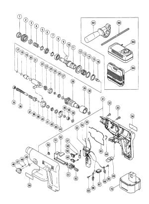 Buy Hitachi DH20DV Replacement Tool Parts | Hitachi DH20DV