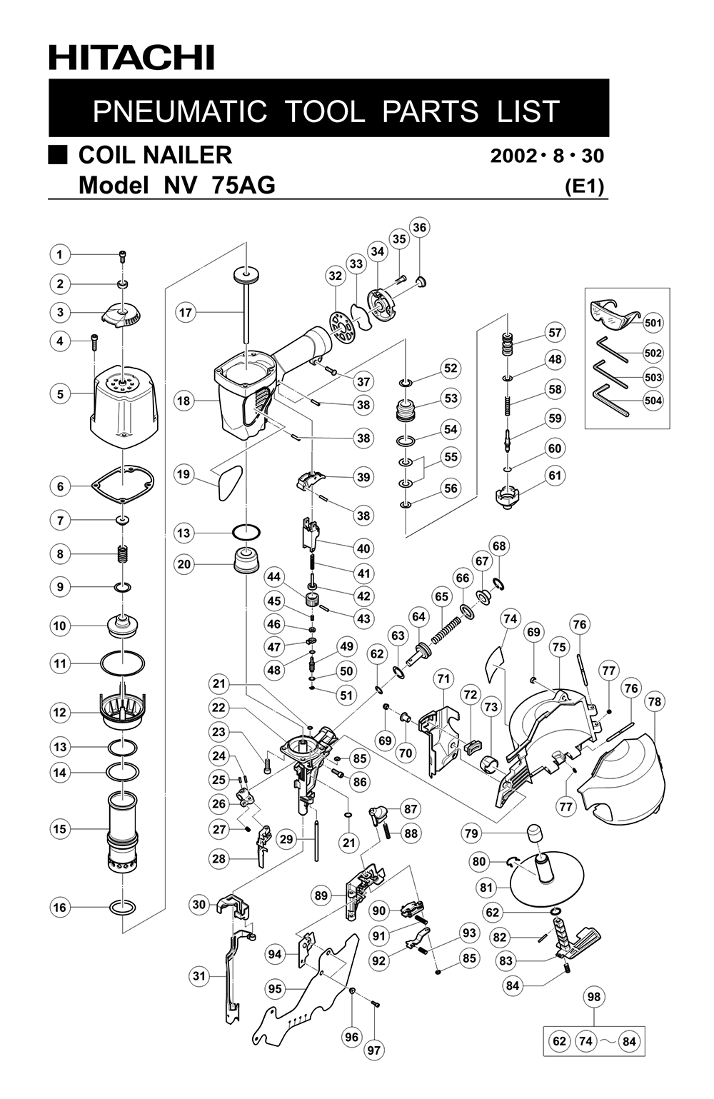 Hitachi Coil Nailer Schematic