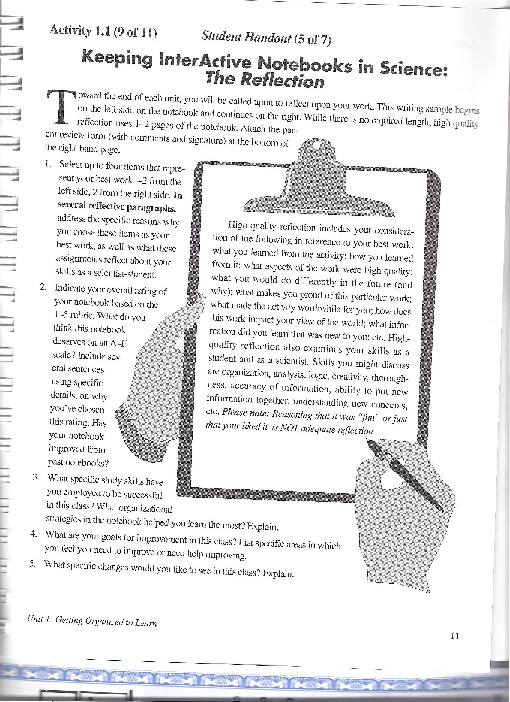 3rd Nine Week Notebook Pages