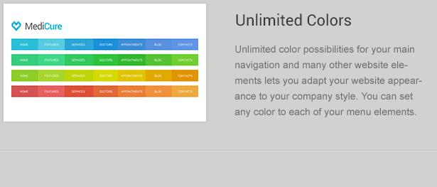 Navigation Color Schemes in Medicine theme