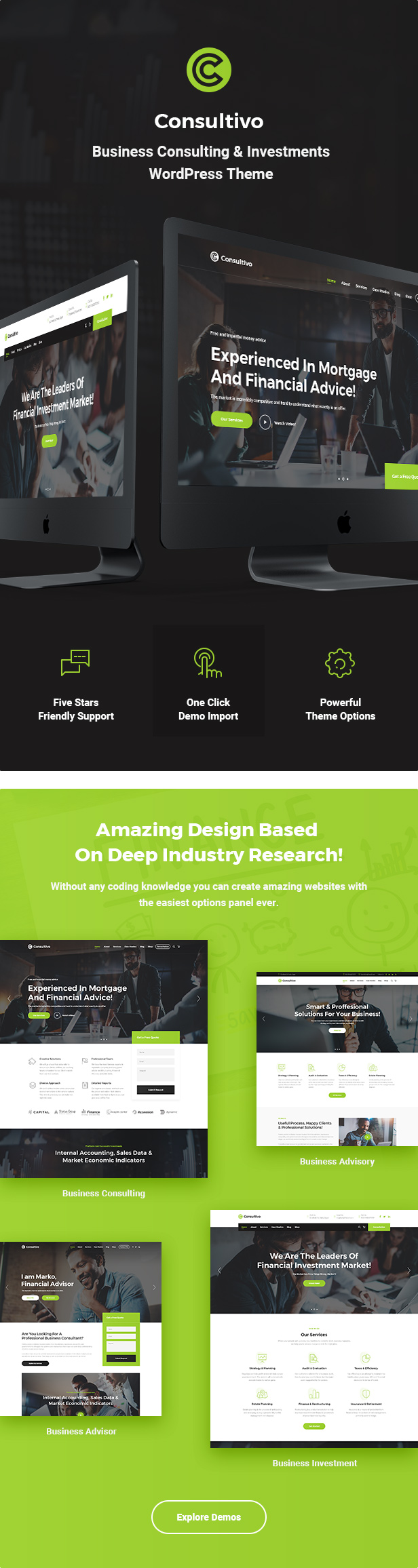 Consultivo - Business Consulting and Investments WordPress Theme - 5