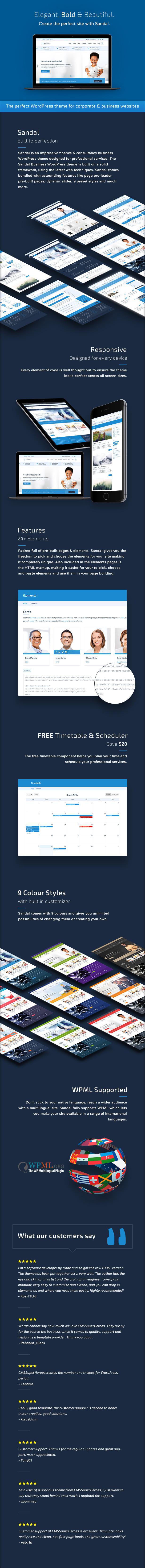 Sandal - Finance & Consultancy Business WordPress Theme - 1