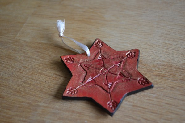 Red and gold Christmas Star