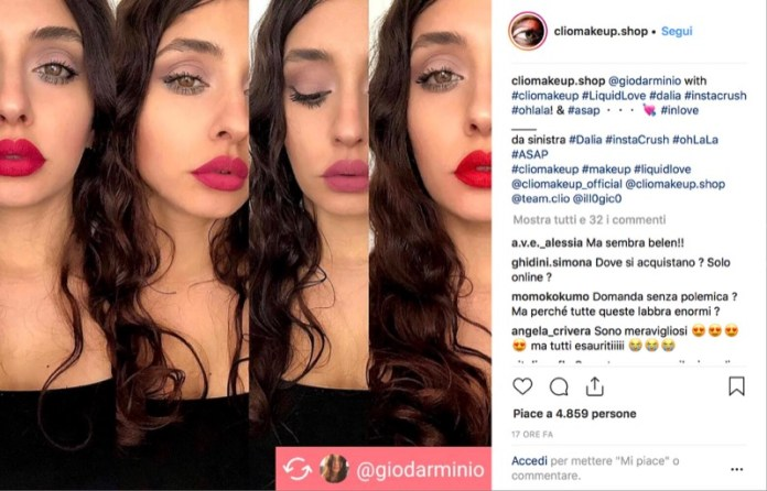 cliomakeup-rossetto-liquido-ohlala-clio-liquidlove-giodarmiino-instagram