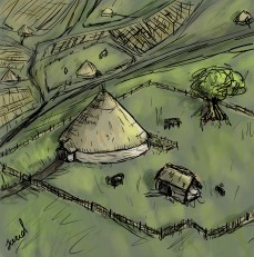 Antiiss' village is comprised of roundhouses.