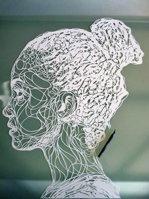 Papercut Portrait by Kris Trappeniers