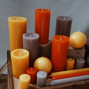Bougies la française de couleurs, fabriqué en France