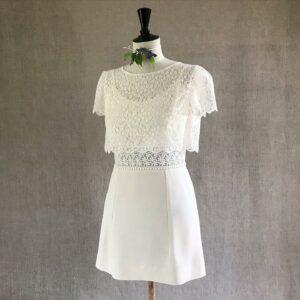 Robe de mariée courte Be Vernier, fabriqué en France
