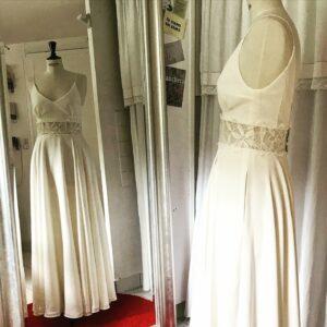 Robe de mariée sans manches Be Vernier, fabriquée en France