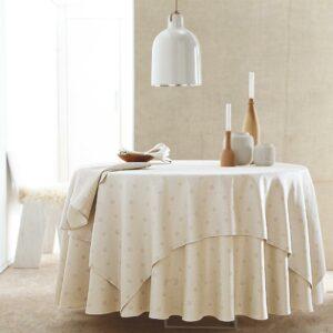 Linge de table blanc à poids Blanc des Vosges, fabriqués en France dans les Vosges