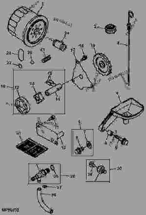 ENGINE OIL PUMP AND FILTER (6X4)  公用车辆 John Deere 6X4  UTILITY VEHICLE  4X2, 6X4 Gators