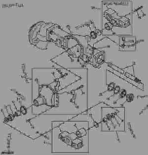 Front Axle Housing (MFWD)  拖拉机,紧凑公用 John Deere 4300