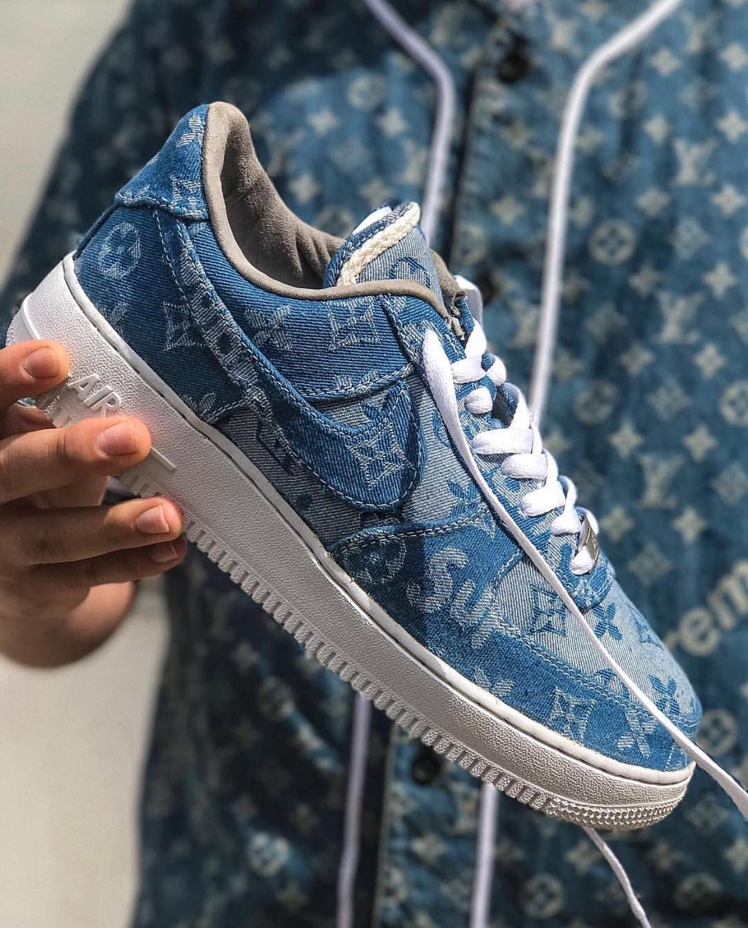 Nike Air Force 1 Supreme LV Denim Custom
