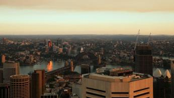 The haze from Sydney Tower Eye Observation Deck. Picture: Getty Images