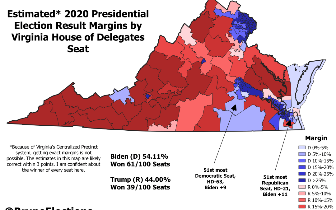 Estimating the 2020 Election Results in the Virginia House