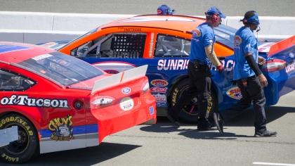 NASCAR pit lane line up