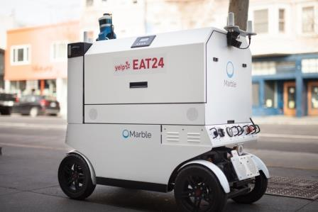 Marble food delivery robot