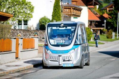 Navya driverless, automated electric vehicles