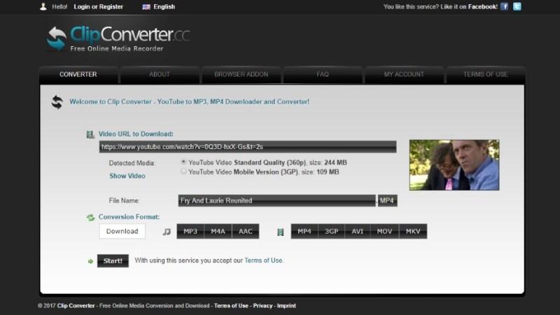 ClipConverter screen grab