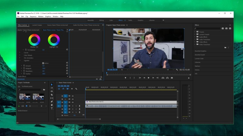 Adobe Premiere Pro screen grab