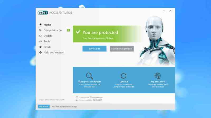 ESET NOD32 Antivirus 2018 Edition might lack in features but it offers power antivirus protection