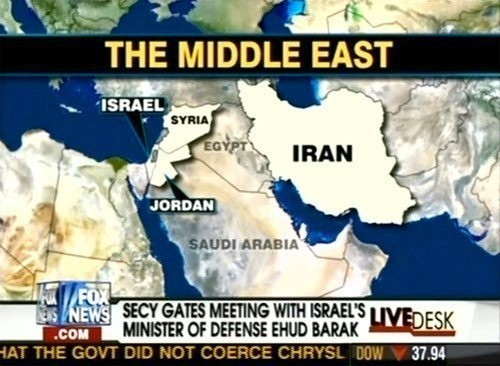 Fox News Doesn't Know where Egypt and Iraq are