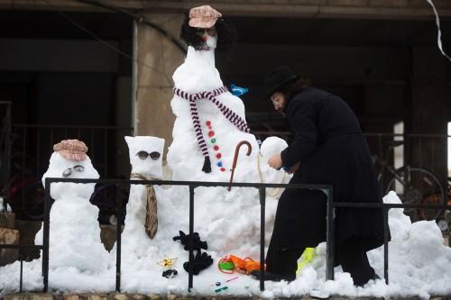 Snowmen in Israel