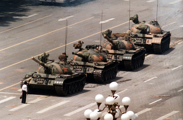Tank Man at Tiananmen