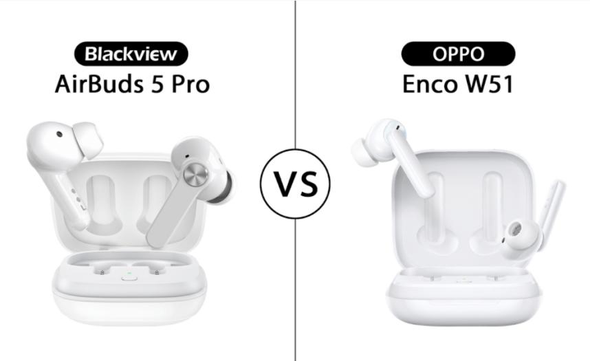 Blackview TWS AirBuds 5 Pro vs OPPO Enco W51