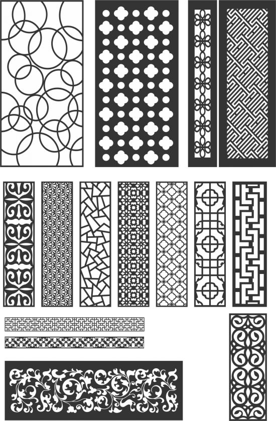 15 Pattern vectors dxf file for cnc