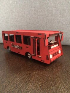 Laser Cut Bus 4mm Free Vector