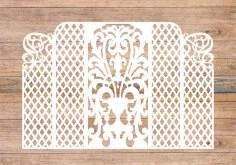 Wedding Screen, Wedding Arch Lase Cut Free Vector