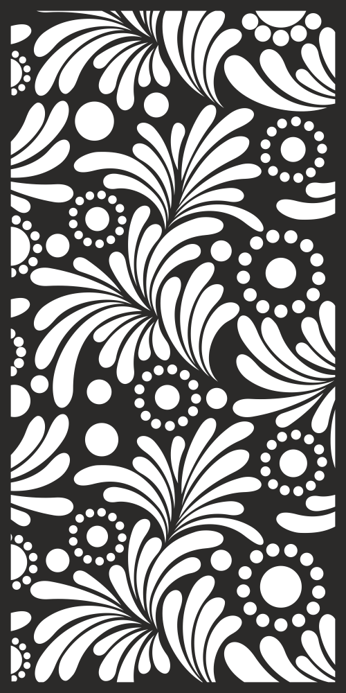 White Floral Fabric Pattern Free Vector