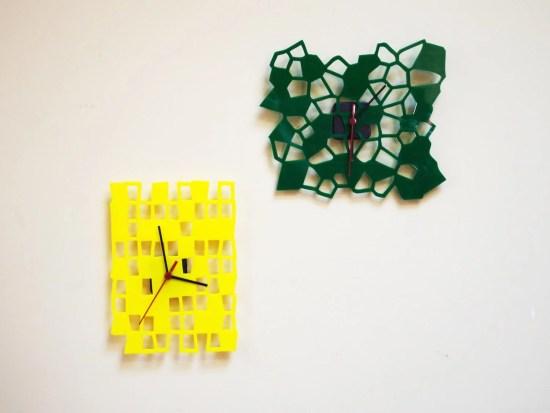 Laser Cut Decorative Acrylic Clocks Free Vector
