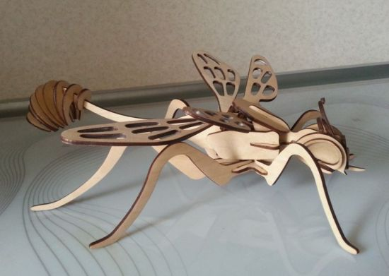 Wasp 3D Model Laser Cut Template Free Vector